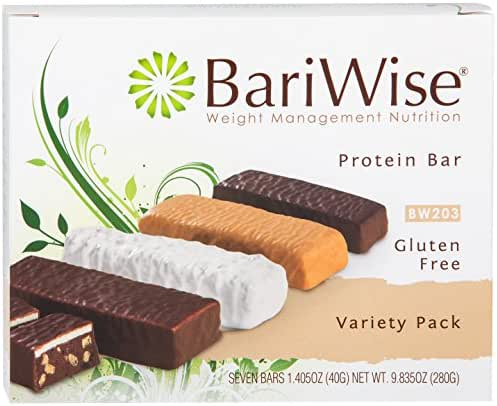 BariWise Protein Bar/Diet Bars - Variety Pack (7ct), High Protein, Trans Fat Free, Aspartame Free