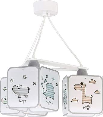 Comprar Dalber Little Lámpara Infantil de Techo de 3 Luces Baby Zoo Animales, 60 W, Multicolor           [Clase de eficiencia energética A]