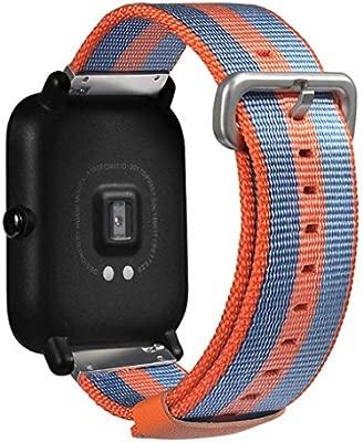 prevently marca Fashion Sports reloj correa correas de repuesto correa de rayas Nylon banda para Xiaomi huami amazfit bip jóvenes reloj