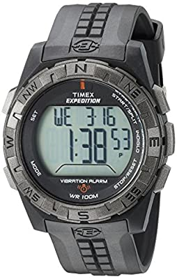 Timex Men's T49851 Expedition Vibration Alarm Black Resin Strap Watch from Timex