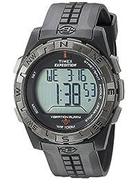 Timex Men's T498519J Expedition Rugged Digital Vibration Alarm Black Resin Strap Watch