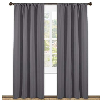 Amazon.com: NICETOWN Blackout Curtains 84 for Bedroom - Three Pass ...