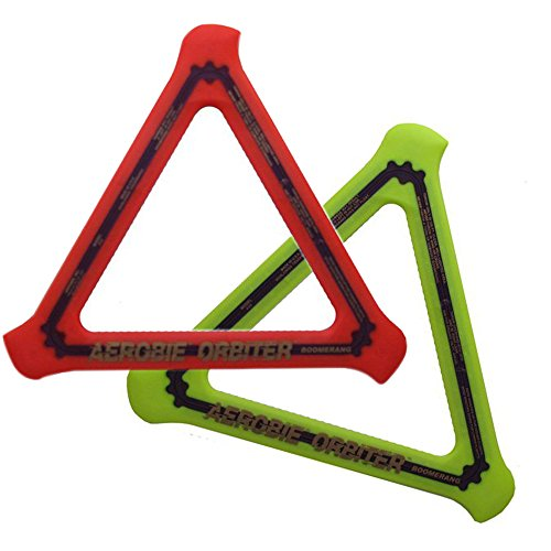 Aerobie Orbiter Boomerang, 13 Diameter, Assorted Colors, Set of 2