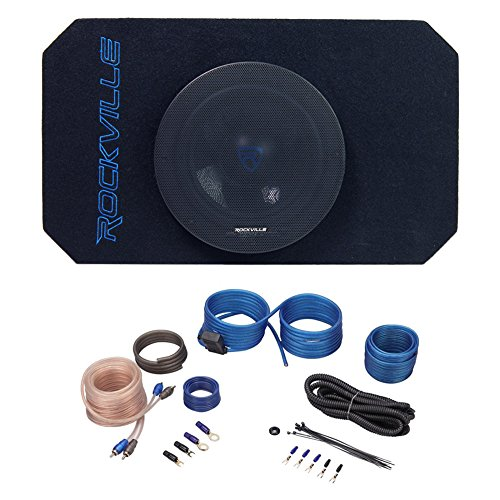 8 inch Tunnel Slot Ported Powered Subwoofer Enclosure +Amp for Jeep Wrangler 87-06
