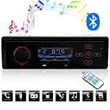 ieGeek Bluetooth Car Audio Stereo, Car Mp3 Radio Player FM/AM Receiver, 12V Car Radio Adapter Support USB Charging Port, SD/TF Card, AUX Receiver, Remote Control