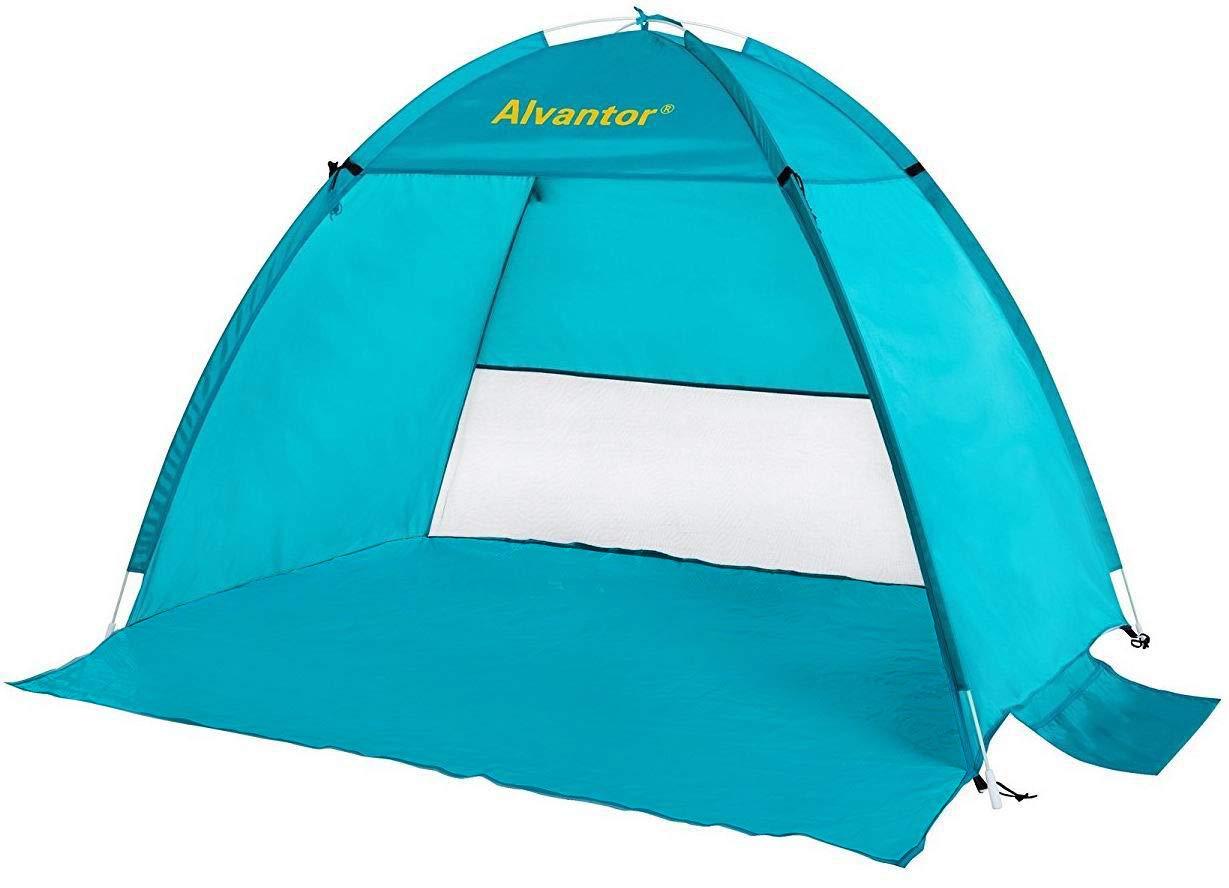 LEEDOR Beach Tents Coolhut Beach Umbrella Outdoor Sun Shelter Cabana Automatic Quick Instant Pop-Up Anti-UV50+ Sun Shade Portable 2 Person Camping, Fishing, Hiking