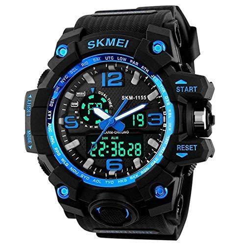 SKMEI Analog Digital Black Strap Men's Watch – 1155