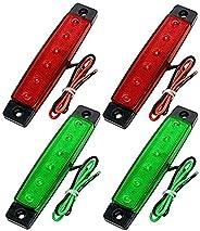 Hojffuue 4Pcs Red Green Boat Navigation LED Lights Stern Lights Boats Starboard Light 12V