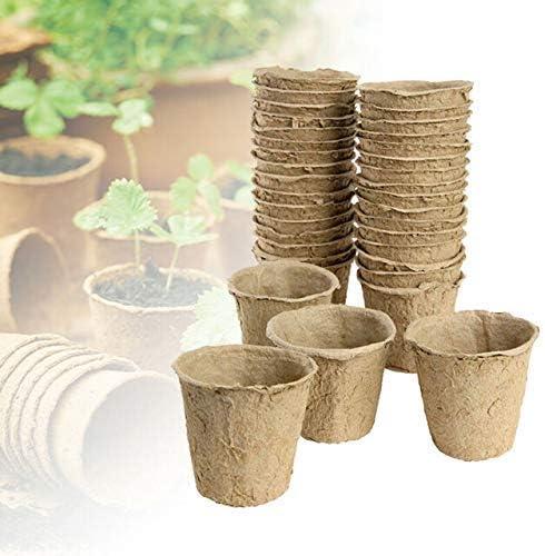 Easy Plants 24/48/100 x 6 cm Maceta Redonda Biodegradable para ...