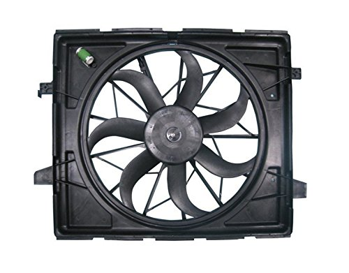 - Dual Radiator and Condenser Fan Assembly - Cooling Direct For/Fit CH3115170 11-18 Jeep Grand Cherokee 3.6/5.7L Standard Duty Cooling