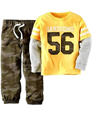 Carters Infant Boys Handsome Camouflage Distressed Shirt & Pants 2 PC Outfit
