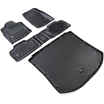 Rugged Ridge 12988.26 All Terrain Black Front U0026 Rear Cargo Floor Liner Kit  For 11
