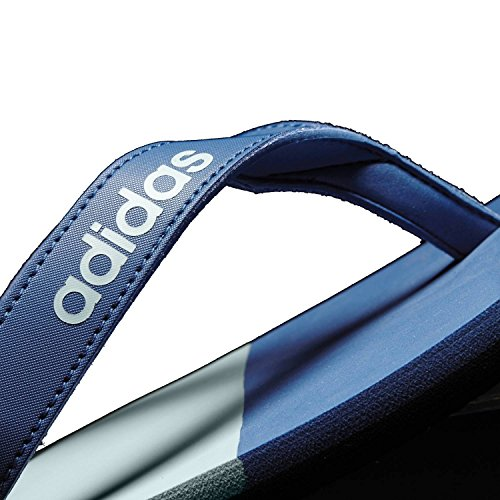 adidas Herren Eezay Striped Zehentrenner, Core Blue/Mystery Blue/Tactile Green Blu ( Azubas/Azumis/Vertac)