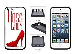 Boss Lady with Red Heels TPU simpler RUBBER SILICONE Phone schools Case no Back to Cover Apple iPhone 5c Kimberly Kurzendoerfer