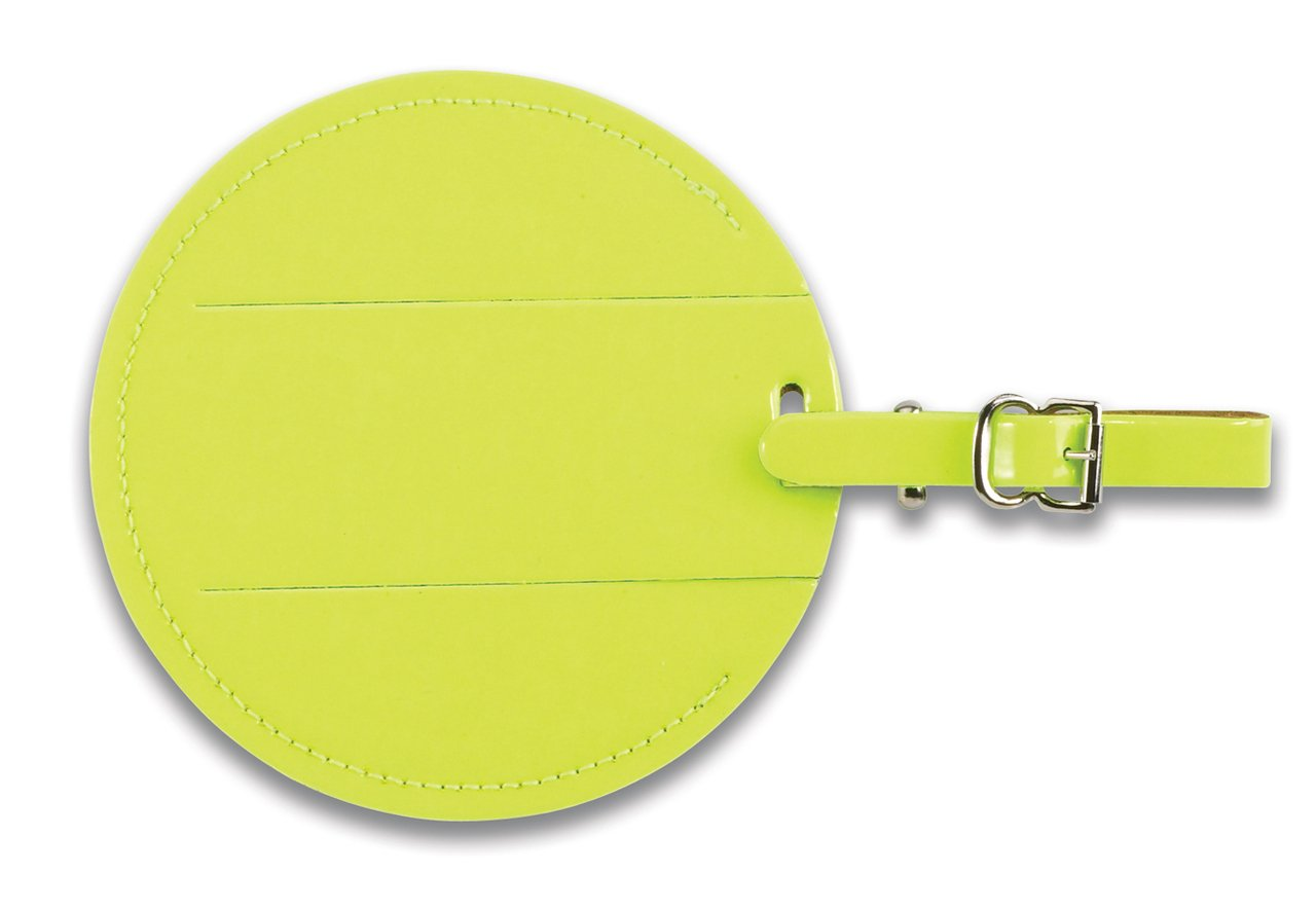 Yellow One Size Lewis N Clark Round Neon Tag with Closed Security Flap