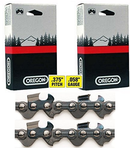 2 Pack Oregon 73LGX084G 84 Drive Link Super Guard Chisel Chains (for 24
