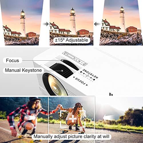 QKK Portable LCD Projector 2800 Brightness [100