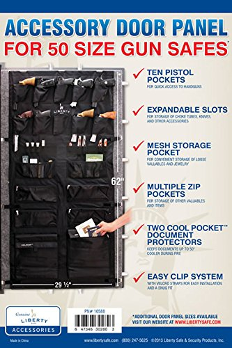 Liberty Gun Safe Door Panel Organizer 10588 Size 50 (29.5 x 62) for 72 Inch Tall Safes by Liberty Safe (Image #4)
