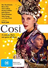 Ben Mendelsohn stars as Lewis Riley, an unemployed young man who applies for a job as a director/drama teacher at a mental hospital. He lands the job and finds himself directing a production of Wolfgang Amadeus Mozart's Cosi, an elaborate, de...