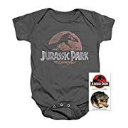 Popfunk Jurassic Park Faded Logo T Rex Infant Onesie & Exclusive Stickers (12 Mos)
