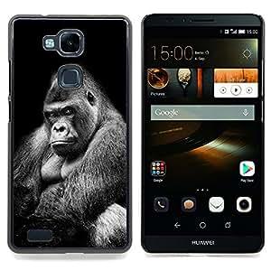 "For HUAWEI Ascend MATE 7 Case , Great Big Ape Gorila Negro Blanco Significado"" - Diseño Patrón Teléfono Caso Cubierta Case Bumper Duro Protección Case Cover Funda"