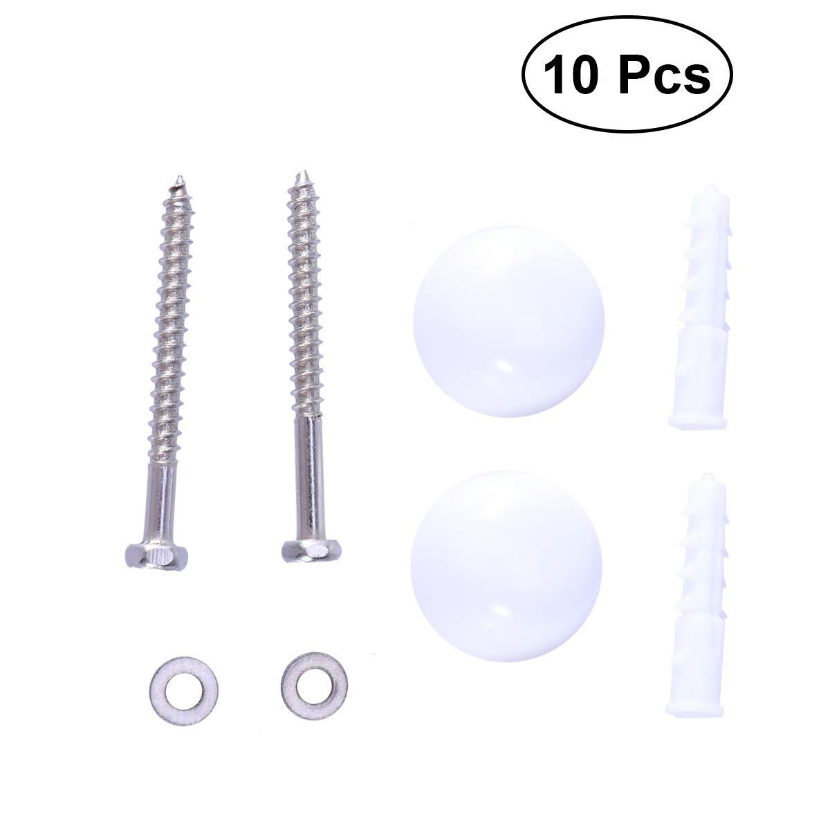 OUNONA Abattant WC kit de Fixation r/éparation Charni/ère de Remplacement de boulons Vis Accessoires 10/pcs