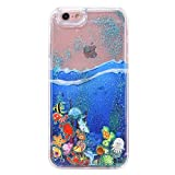 "iPhone 6S Plus Glitter Case,IKASEFU Creative Ocean World Print Flowing Glitter Sparkle Shiny Sand Transparent Liquid Case Cover for iPhone 6 Plus/6S Plus 5.5""-Pattern#3"
