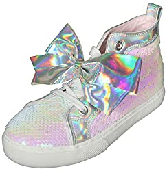 Reversible Sequins High Top Girls Sneakers