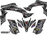 Senge Graphics All Years Kawasaki KFX 700, Wildfire Black Graphics Kit