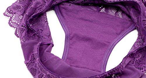 POKWAI 3 Bolsas De Ropa Interior De Alta Cintura Del Cordón Atractivo De La Tentación Transparente Del Abdomen Gluteos Sin Breves Vistazo A7