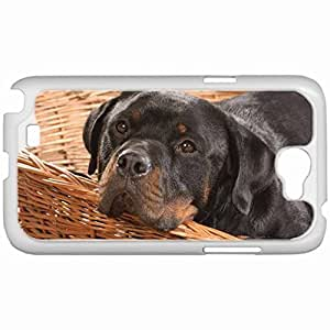 Custom Fashion Design Samsung Galaxy NOTE 2 SII Back Cover Case Personalized Customized Samsung Note 2 Diy Gifts In Dog basket White