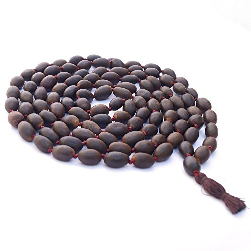- Lotus Mala Beads | 10 MM | Authentic Indian 108+1 Beads with Tassel | Lotus Japa Mala