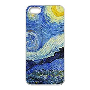 Starry Night Van Gogh iPhone 4 4s Cell Phone Case White G4R7TI