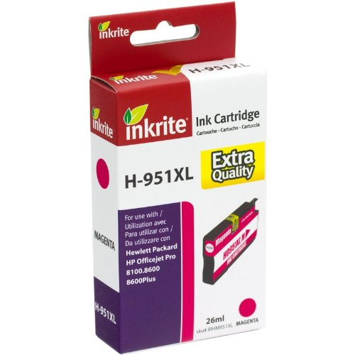 Inkrite NG Ink Cartridges (HP 951XL) for HP OfficeJet Pro 8100 8600 - CN047AE Hi-Cap Magenta Inkrite Cartridge