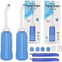 Luxerlife 2PCS Portable Bidet Sprayer, 500ml Travel Bidet Sprayer with Storage Bag, 17oz Handheld Personal Bidet Empty…