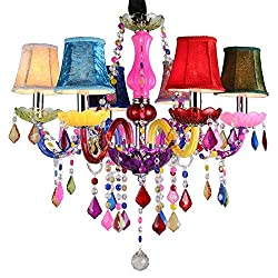 Modern Crystal LED Lighting Colorful Chandelier