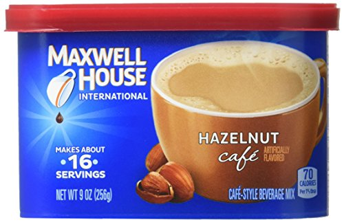 Maxwell House International Hazelnut Cafe Beverage Mix, 4 Count, 9 oz