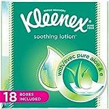 Beauty : Kleenex Lotion Facial Tissues with Aloe & Vitamin E, Cube Box, 75 Tissues per Cube Box, 18 Packs
