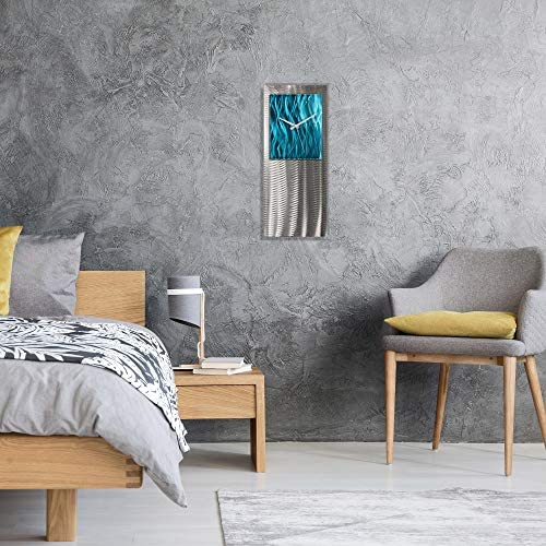 Turquoise Modern Clock 'Teal Studio Clock'