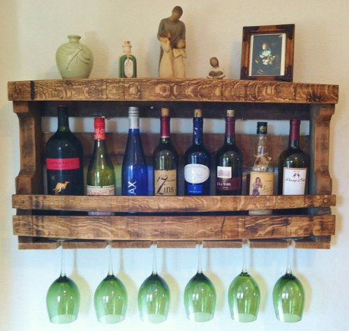 Napa Valley Reclaimed Wood Wine Rack by Great Lakes (Image #3)