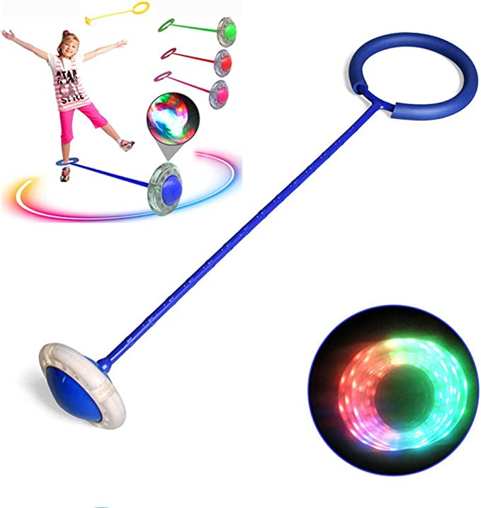 Details about  /Foldable Ankle Skip Ball Flash Jump Colorful Swing Ball Kid Fitness Exercise New