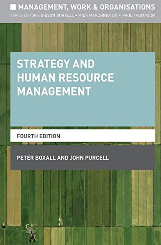 Strategy and Human Resource Management (Management, Work and Organisations)