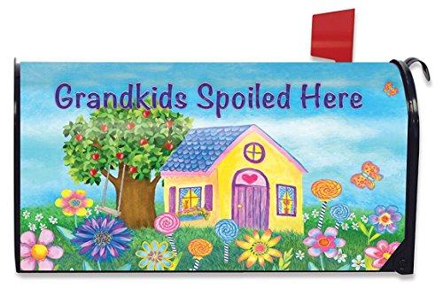 Briarwood Spring - Briarwood Lane Grandkids Spoiled Here Spring Mailbox Cover Floral Standard