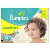 Pampers Swaddlers Disposable Diapers Size 6, 50 Count, SUPER