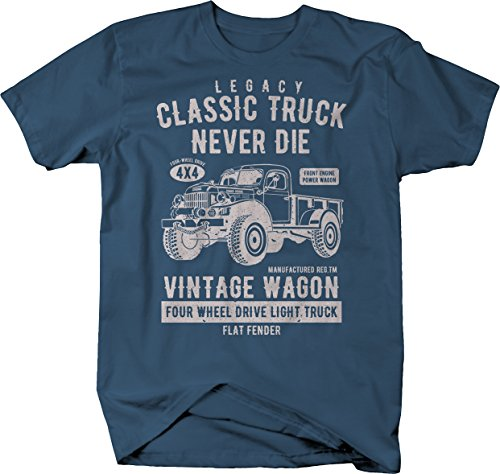 Power Wagon Dodge Vintage Distressed 4x4 Truck Military Classic Tshirt - 2XL