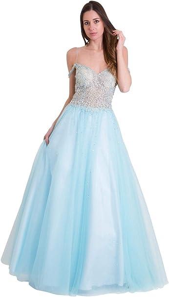 Jessica Stuart Azul Cielo 32399 Adornado corpiño Vestido de Falda ...