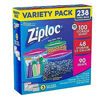 Ziploc Gallon Slider Storage Bags, 96 Count 6634356