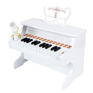 XUEYING-TOY Juguete Teclado Pequeño Piano para niños Entrada de Juguete para niña de múltiples Funciones Bebé Principiantes de Piano electrónico 1-2-3-6 ...
