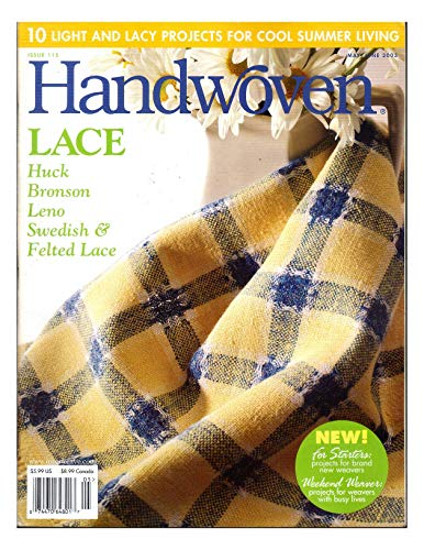 Handwoven (Hand Woven) Magazine, May / June 2003 - 10 Light and Lacy Projects