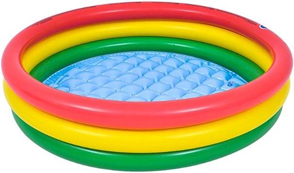 Fenteer Niños Piscina Infantil Jardín Jardín Al Aire Libre Agua Diversión Inflables Piscina - Multicolor, Arco Iris 100cm: Amazon.es: Juguetes y juegos